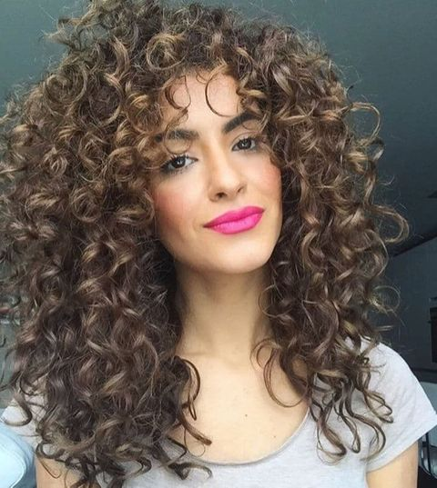 Textured long curly hair for women 2021-2022