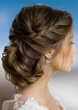 Bun prom hairstyles for long hair