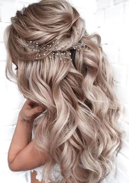 Modern wedding and bridal hairstyles for long hair