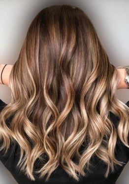 Brown balayage hair color ideas for asymmetrical medium length hair