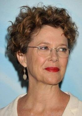 Curly short pixie haircut for women over 60