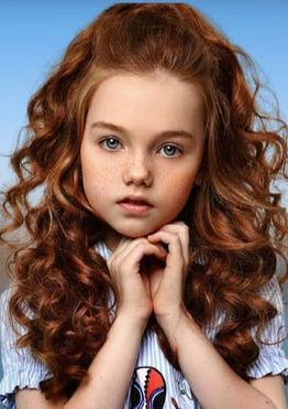 Wavy long hairstyles for little girls with oval face