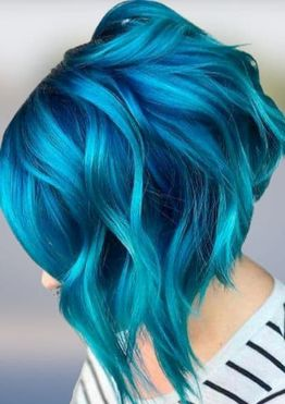 Blue hair colors for short hair