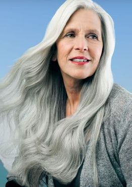 Long hairstyles for older women over 60