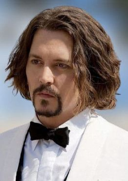 Long wavy hairstyles for men with beards