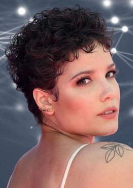 Short curly pixie haircuts for women with round face