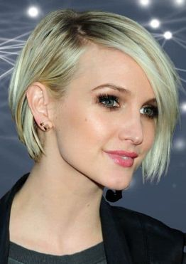 Short bob haircut for blonde women