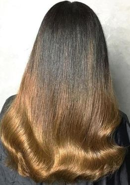 Brown and red ombre hair color